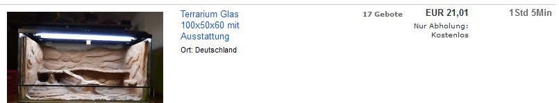 gebrauchte Terrarien bei eBay