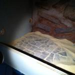 marmorbruch-fliesen für ein leopardgecko-terrarium